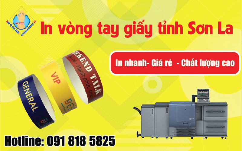 In ấn vòng tay giấy tỉnh Sơn La